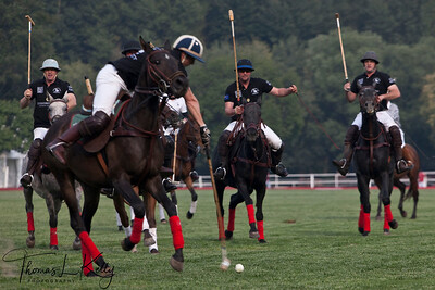 New Zealand Polo Team vs British Polo Team at Beijing National Stadium (Bird's Nest) China.