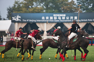 Chinese Polo Team vs New Zealand Polo Team. China.