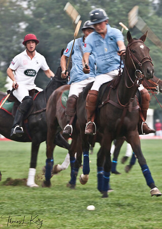 Genghis Khan Polo Club vs British Polo club. National Stadium (Bird's Nest). China.