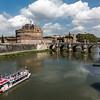 Castel Angel; Tiber River; Rome, Italy