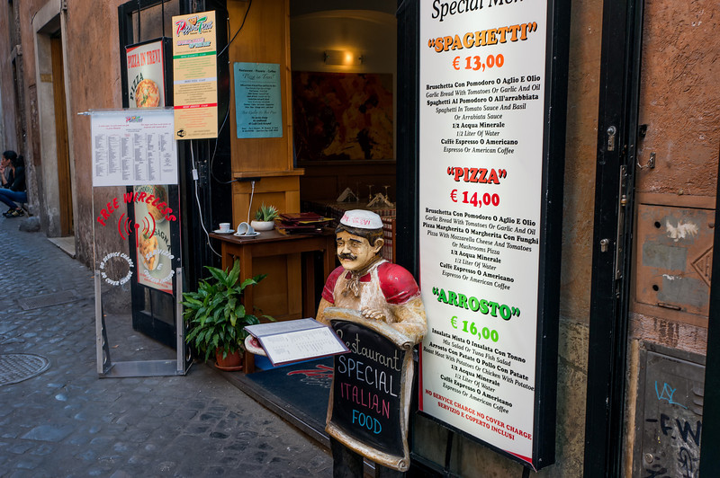 Street Cafe, City-Center, Rome, Italy