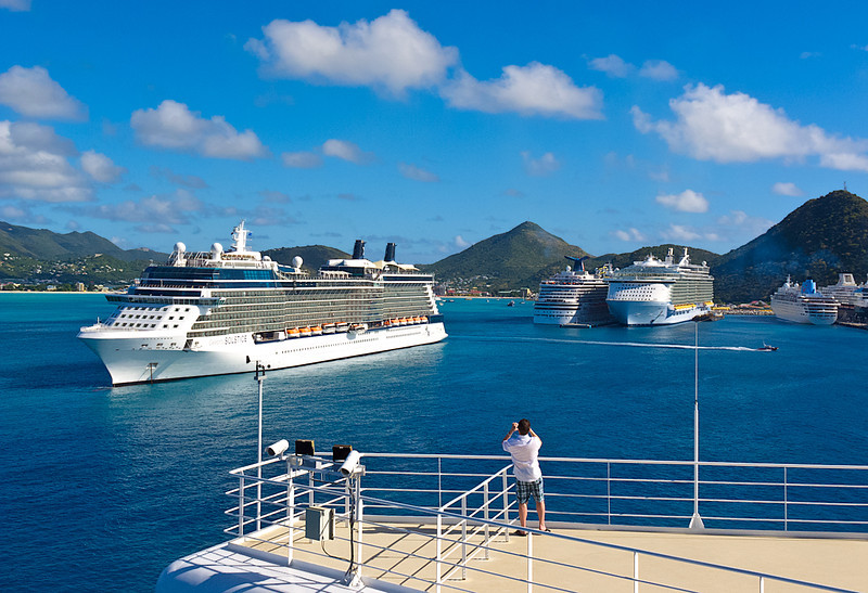 St. Maarten Harbor from Ruby Princess