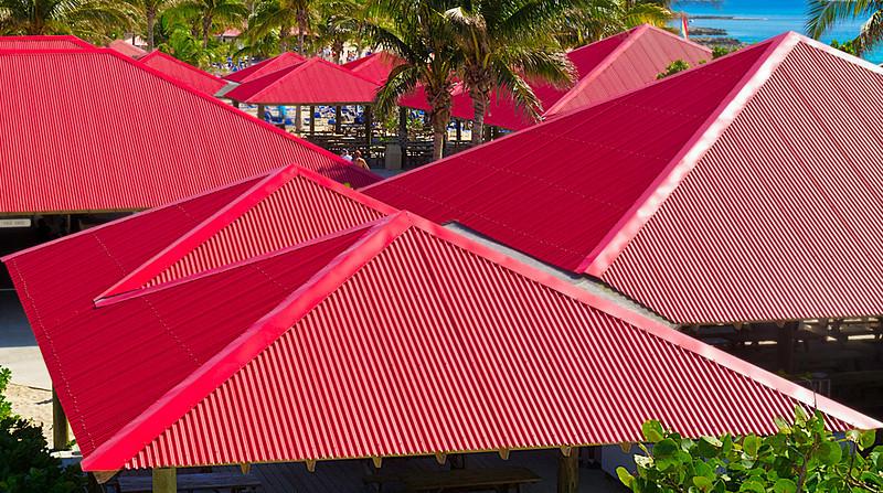 Colorful Roof Tops; Princess Cay; Bahamas