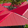 Colorful Roof Tops; Princess Cay; Bahamas