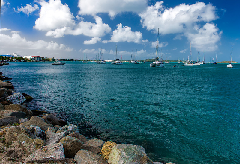 Marigot Harbor, St. Maarten<br /> O'Brien Wine Cruise<br /> Copyright  Andy Richards  2013