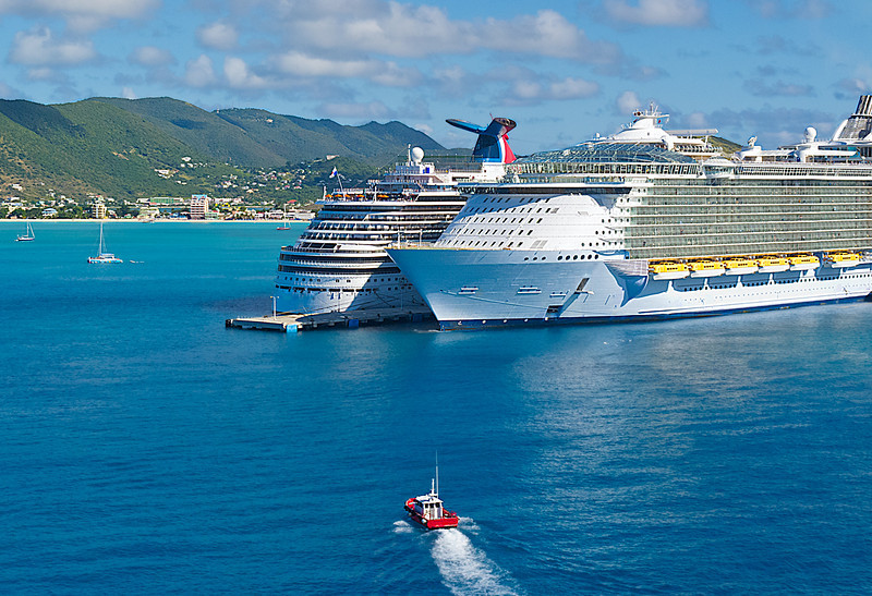Cruise Ships in St. Maarten Harbor