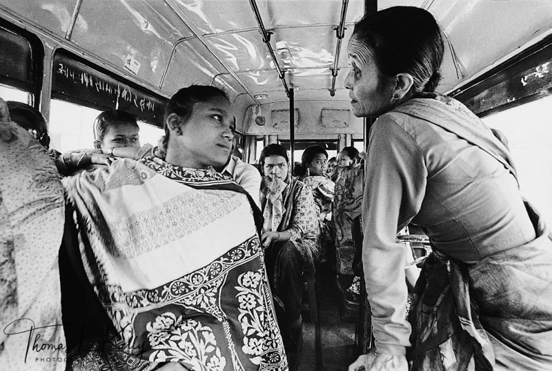 RESCUED<br /> Annuradha Koirala (right) comforts a Nepali girl just rescued from the Mumbai brothels. The girls have been transported to the Nepal-India border and are being take by bus to Kathmandu, where they will be reunited with their families, if possible. Eighteen of the 28 rescued girls are HIV-positive.<br /> Central Region, Nepal.