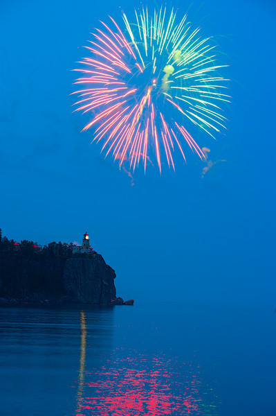 Split Rock Light Fireworks, Two Harbors, Minnesota