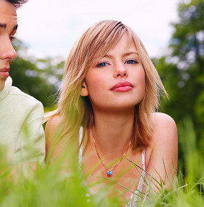 Lying outdoors enjoying the spring and each others company. This collections unique keyword is: younglove123