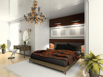 Modern bedroom 3D