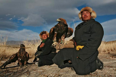"""Bayan-Olgii, is a """"Kazakh province' and it is here that their culture  persevered despite communist oppression for much of the 20th century. The dominant feature of western Mongolia is the Mongol Altai mountain range, which stretches from Russia through Bayan-Olgii down to the Gobi desert. One of the oldest, most revered and spectacular activity for the Kazakh people, passed down from generation to generation, is hunting with trained eagles.  Bayan Olgii, Mongolia"""
