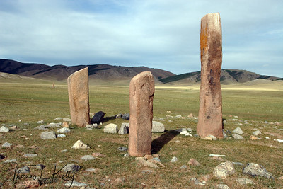 900 BC Megalith, Darkhaad Valley. Northern Mongolia.