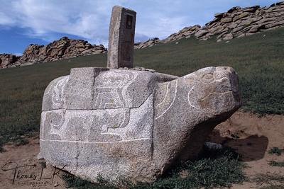 Stone Turtle rock marks, Mongolia.