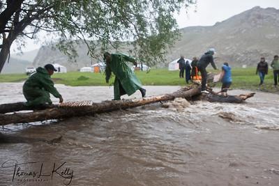 Flooded Tamir river