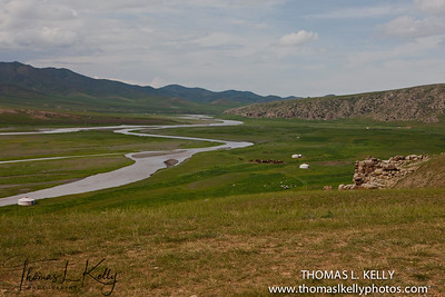 Christopher Gierke's camp in Monkhe Tingri. Mongolia.