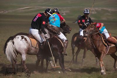 Chinese Polo Team vs The Genghis Khan Polo Club. Monkhe Tingri, Mongolia