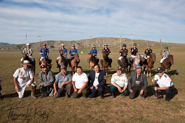 Supporters and Goverment officials at Christopher Giecke's camp. Monkhe Tingri Mongolia.