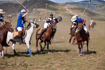 New Zealand Polo Team vs The rest of the World Polo Team. Monkhe Tingri, Mongolia