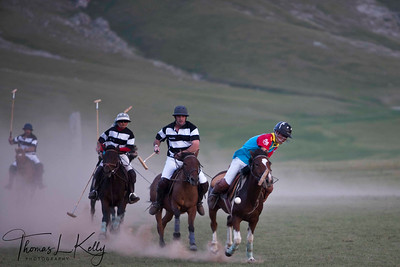 New Zealand Polo Team vs The Ghenghis Khan Polo Club. Monkhe Tingri, Mongolia