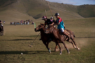 Chinese Polo Team vs The Genghis Khan Polo Club. Monkhe Tingri, Mongolia