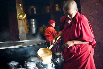 Thupten Choeling Monastery in Solu, Nepal.
