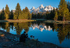 Photographer at Scwabacher Landing, Grand Teton National Park, WY