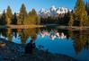 Photographer at Scwabacher Landing, Grand Teton National Park, WY