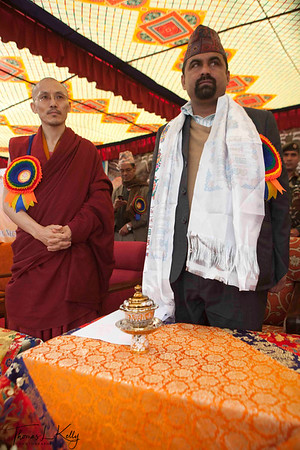 The 25th Anniversary of Triten Norbutse Monastery, The 2nd Grand Medicinal Healing Ceremony, The Radiating Light Rays of healing and 7th Geshe Ceremony. Triten Norbutse Monastery, Kathmandu, Nepal.