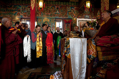 Ven. Chokling Rinpoche conducting Yuthok Nyingthig Lung puja