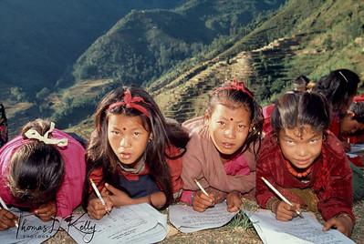 Children of the Badi community at school.