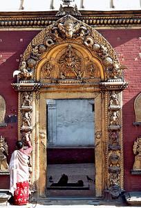 Golden Gate. Bhaktapur Durbar Square, Kathmandu, Nepal.