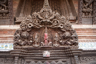 Bhaktapur is famous for it wood carving.  Bhaktapur Durbar Square, Kathmandu, Nepal.