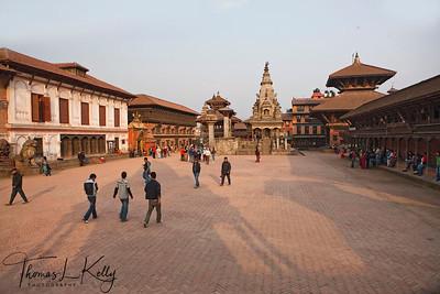 Overview of Bhaktapur Durbar Square.  Kathmandu, Nepal.