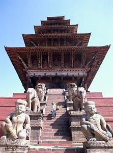 Nyatapole temple.  Bhaktapur Durbar Square, Kathmandu, Nepal.