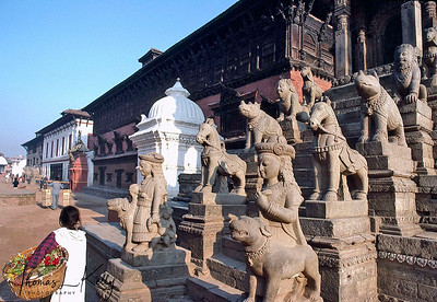 The Durbar Square houses the 55-window Palace which was constructed by King Jitamitra Malla and was home to royalty until 1769. It is now a National Gallery. Bhaktapur Durbar Square, Kathmandu, Nepal.