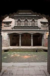 Inner courtyard of Dattatraya temple. Bhaktapur Durbar Square, Kathmandu, Nepal.