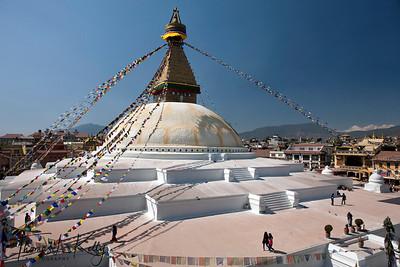 Bouddhanath stupa.  Kathmandu, Nepal.