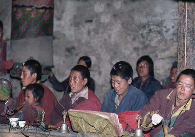 Buddhist nun performing daily ritual.