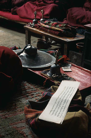 The reading of traditional Tibetan Buddhist scriptures.
