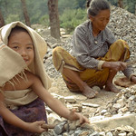 Due to being born to poor parents, these kids are apparently denied to go to school and are bound to follow their parents profession of crushing gravels to suppliment the family income. In N ...