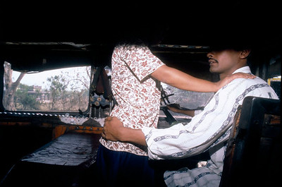 Human trafficking is endemic to India and Nepal when young girls are trapped and often seen on the truck routes between Kathmandu and Kolkatta. Nepal.