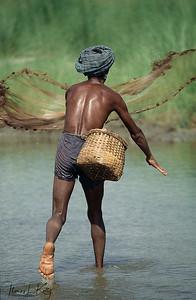 Tharu Fisherman. Chitwan National Park, Chitwan, Nepal.