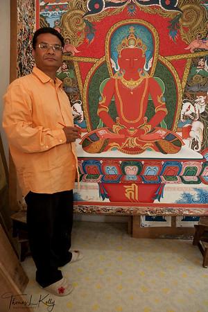 Thangka Artist, Lok Chitrakar.