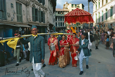 Phulpati Parade. Phulpati means 'sacred flowers', denotes the bouquet  in Royal Kalash from Gorkha, the original home of current dynasty. Men of Gorkha carry it for four days to Hanuman Dhoka, Kathmandu. There King receives the phulpati and is installed with guns boom, band striking up the National anthem.