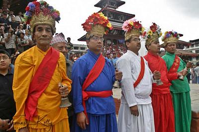 Bajracharya priests.