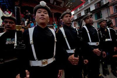 Indra Jatra Festival celebration in Kathmandu, Nepal.