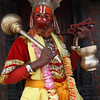 Hanuman, an ardent devotee of Rama. <br /> Pashupatinath temple, Kathmandu, Nepal.