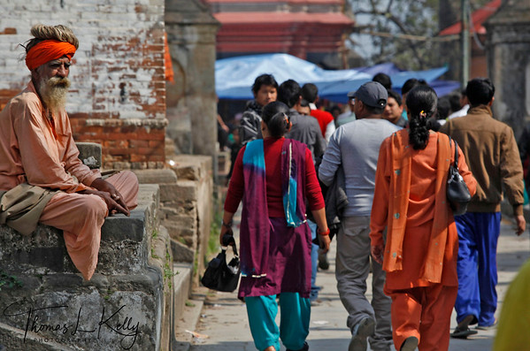 Tens of thousands of devotees and pilgrims from all over Nepal, India and other parts of the world converge at the Pashupatinath temple complex in Kathmandu for Maha shiva ratri, In Kathmandu for Mahashivaratri. Pashupatinath temple, Kathmandu, Nepal.