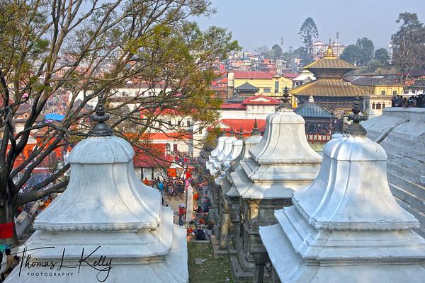 Pashupatinath temple during Maha Shiva Ratri.  Kathmandu, Nepal.