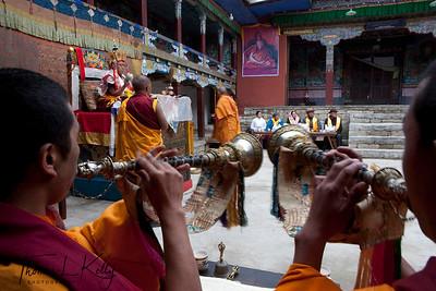 Mani rimdu festival.  Chiwong Monastery, Solu Khumbu, Nepal.